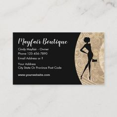 Women's Fashion Business Card Ladies apparel and fashion boutique business card design with image of a posh and modern fashion lady with information fields you can replace with your own details. Created for a ladies clothing boutique, apparel store, or gift shop. #Fashion Modern Fashion, Women's Fashion, Fashion Business Cards, Business Card Design, Fashion Boutique, Fields, Things To Come, Clothes For Women, Store
