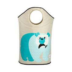 I love this Blue Polar Bear Laundry Hamper. The colour is so beautiful and the bear so cute!!Very useful as well! (http://www.urbanmummy.co.uk/3-sprouts-blue-polar-bear-laundry-hamper/)