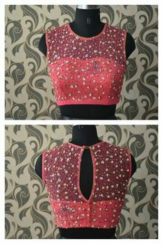 30 Pretty Sheer Back Neck Blouse Designs Netted Blouse Designs, Saree Blouse Neck Designs, Choli Designs, Fancy Blouse Designs, Net Blouse Saree, Saree Jacket Designs Latest, Indian Blouse Designs, Sheer Blouse, Designer Blouse Patterns