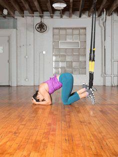 Headstand: Step 3  #trx #yoga http://greatist.com/move/trx-yoga-workout