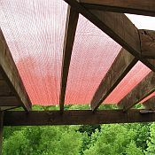 How to Install Shade Cloth Fabric over your pergola.