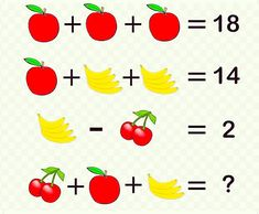 Can you solve the fruit puzzles?