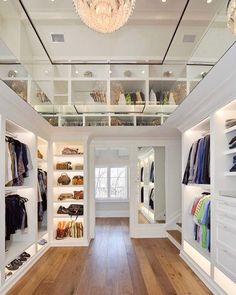 14 Walk In Closet Designs For Luxury Homes Walk In Closet Design, Closet Designs, Wardrobe Design, 2 Story Closet, Budget Home Decorating, Master Bedroom Closet, Walking Closet, Home Improvement Loans, Boho Home