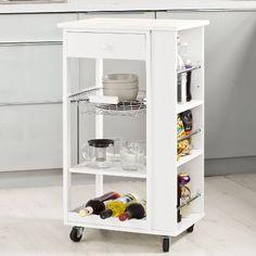 Details zu Küchenwagen Holz Küchenhelfer Rollwagen Küchentrolley ... | {Küchenwagen holz 25}