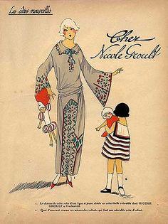1923 Nicole Groult '' Les Idées Nouvelles de la Mode '' Fashion Art Deco Pochoir '' Tres Parisien ''