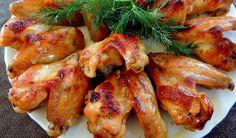 Куриные крылышки в медово-горчичном соусе, запеченные в духовке
