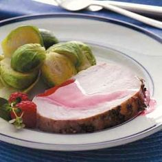Zippy Raspberry Roast Pork Recipe from Taste of Home -- shared by Kim Pettipas of Oromocto, New Brunswick