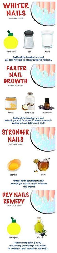 Starkare och vitare naglar