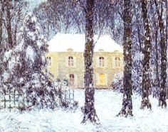 house in snow  Henri Le Sidaner