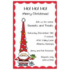Funky+Santa+Holiday+Christmas+Invitations