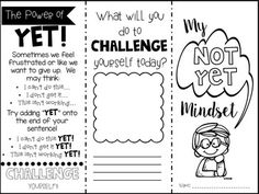 The Power of Yet-a brochure to teach a growth mindset