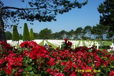 American Military Cemetery at Normandy Beaches, France ..D Day Landings