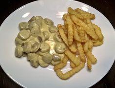 Bratwurstgeschnetzeltes in Käse-Sahne-Soße...