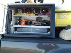 Post pics of your welding rig/work truck Welding Beds, Welding Cart, Welding Shop, Welding Tools, Welding Projects, Truck Bed Box, Truck Tool Box, Welding Trailer, Welding Trucks