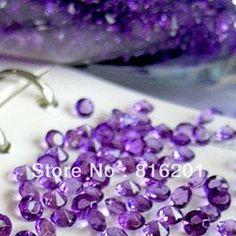 Free Shipping 20000pcs 4.5mm purple Wedding Decoration Diamond Scatter Acrylic 1/3CT US $18.90