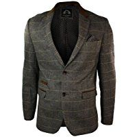 Herren Weste Braun Tweed Design