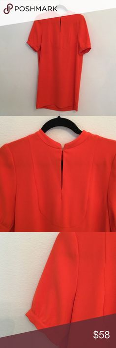 J Crew Size 8 Shift Beautiful Salmon/Orange color...100%Polyester size 8 J. Crew Dresses