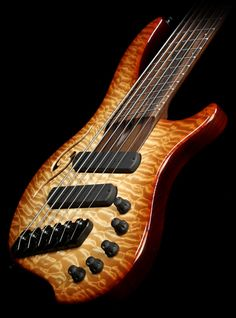 Used 2013 Dingwall Afterburner II Quilt Maple Top Six-String Electric Bass Guitar Light Brown Burst