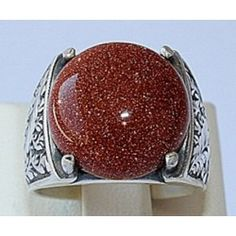 Sterling Silver 925 unisex ring ,ethnic design amber lab. stone ,steel pen crafts