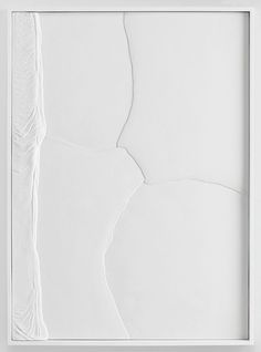 Anthony Pearson Untitled (Plaster Positive), 2013, hydrocal in lacquer finished maple frame, 59.5 x 44 x 3 inches (151.1 x 111.8 x 7.6 cm)