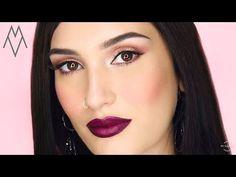 Glam sparkling eyes με μενεξεδί χείλη! / Manos Vynichakis - YouTube Glam Look, Sparkling Eyes, Septum Ring, Make Up, Sparkle, Rings, Youtube, Jewelry, Products