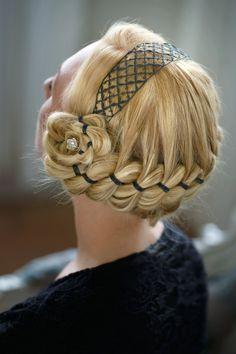Bobbin Lace, Hair, Fashion, Hairdos, Fashion Styles, Moda, Bobbin Lacemaking, Fashion Illustrations, Strengthen Hair