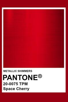 Space Cherry #Metallic #Pantone #Color Pantone Colour Palettes, Pantone Colours, Car Paint Colors, Cherry Red Color, Pantone 2020, Favorite Paint Colors, Colour Pallette, Colour Board, Color Swatches