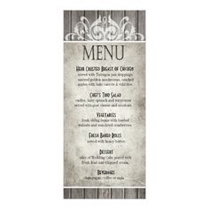 This DealsRustic Wood Filigree Dinner Menu Outdoor Wedding Invitations, Shabby Chic Wedding Invitations, Shabby Chic Wedding Decor, Wedding Menu Cards, Vintage Shabby Chic, Wedding Reception, Wedding Church, Farm Wedding, Rustic Wedding