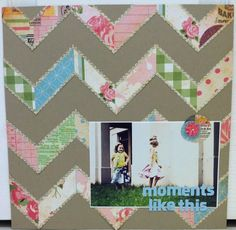 #papercraft #scrapbook #layout Old Book Page and Chevron Layout using Bazzill and @Xyron Inc. Inc.
