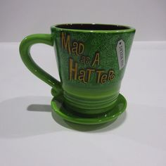 Disney Parks authentic Alice in Wonderland Mad Hatter Coffee Mug tea cup  #Disney
