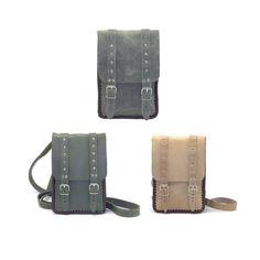 Shoulder bag genuine leather case for 7 tablet by SkaldWorkshop