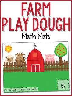 Farm Yard Play Dough Counting Mats Use these Farm Play Dough Mats to combine fine motor and math skills in a fun way. You can find many more Play Dough Mats here. I'm using these mats along with my Farm Unit this month. Farm Lessons, Preschool Lessons, Preschool Farm, Preschool Ideas, Preschool Projects, Preschool Learning, Kids Crafts, Farm Animal Crafts, Farm Animals