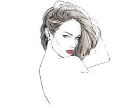 Kai Fine Art is an art website, shows painting and illustration works all over the world. Art Sketches, Art Drawings, Face Sketch, Woman Drawing, Fine Art, Female Art, Art Pictures, Digital Illustration, Art Girl
