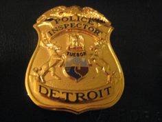 1930s Defunct Detroit Michigan Police Inspector Badge - Weyhing Detroit
