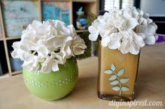 Cute upcycled Painters vases!