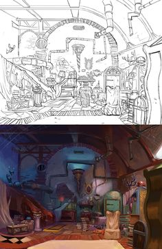 2013 episode´s background development on Behance Background Drawing, Cartoon Background, Animation Background, Environment Concept Art, Environment Design, Illustrations, Children's Book Illustration, Bg Design, Prop Design