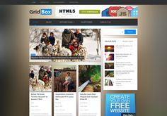 #Gridbox_WordPress_theme is a tricolumn, grid-layout #premium_magazine_WordPress_theme For Download Visit: http://www.premiumthemes4u.com/2014/05/gridbox-wordpress-theme.html