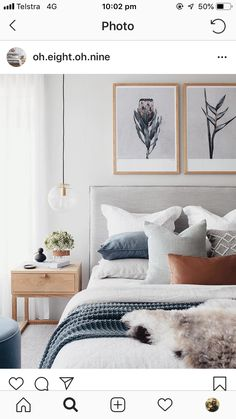 Bedroom Inspo The bedroom of - Architecture and Home Decor - Bedroom - Bathroom - Kitchen And Living Room Interior Design Decorating Ideas - Trendy Bedroom, Cozy Bedroom, Bedroom Inspo, Home Decor Bedroom, Modern Bedroom, Master Bedroom, Scandi Bedroom, Art For Bedroom, Bedroom Colors