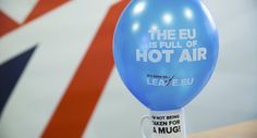 A branded balloon and mug are seen in the office of pro-Brexit group pressure group Leave.eu in London, Britain. By a 6-point margin, British voters favor ending membership in the political-economic union, only two months ahead of the June 23 referendum  Read more: http://sputniknews.com/europe/20160422/1038412039/eu-uk-lexit-brexit-europe.html#ixzz46V0Dp3a7