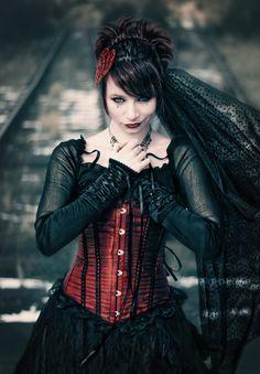 ♥♥♥ | #model #girl #gothic #corset