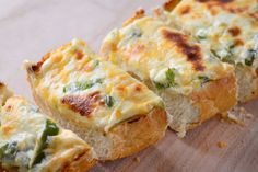 Recipe for Jalapeno Popper Cheesebread at Life's Ambrosia