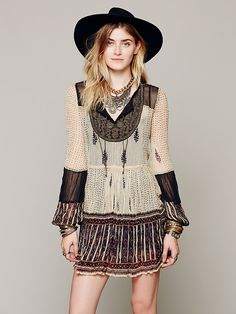 Free People Maheya Scarf Print Dress at Free People Clothing Boutique
