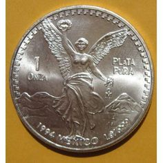 1994 Mexican Libertad! 1 Troy OZ Silver Bullion Coin Rare 999 Fine Low Mintage