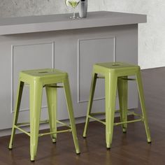 Tabouret 24-inch Limeade Metal Counter Stools (Set of 2) - Overstock™ Shopping - Great Deals on Bar Stools