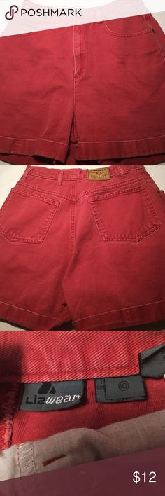 Red Women's Shorts Red. Lizwear. Size 10. High waisted. Lizwear Shorts Jean Shorts
