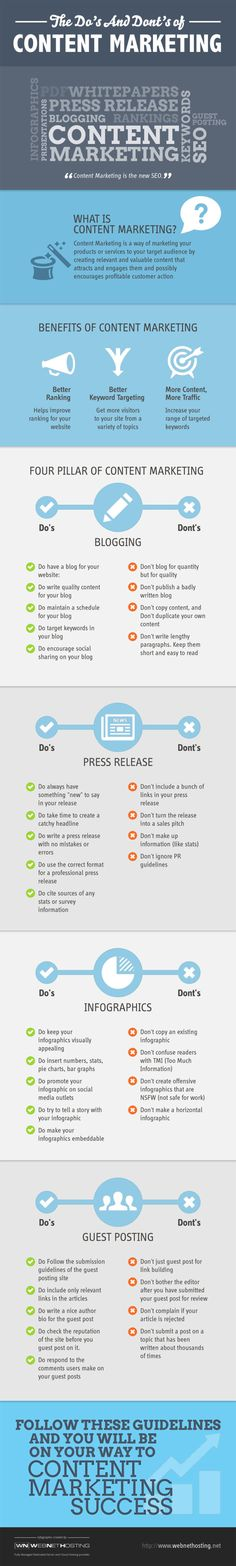 Infographic: Dos and Don'ts of Content Marketing #infographic