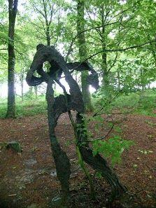 """Guiseppe Penone - """"Sentier de Charme"""" Domaine de Kerguehenec Brittany France Photo YB"""