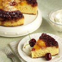 Fresh Cherry Upside-Down Cake