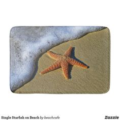 Single Starfish on Beach Bathroom Mat