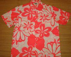 Vintage Malihini Aloha Shirt by thehanashirtco Vintage Hawaiian Shirts, Aloha Shirt, Vintage Men, 1960s, Neon, Trending Outfits, Handmade Gifts, Etsy, Kid Craft Gifts